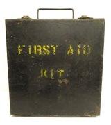 メタル製 FIRST AID KIT ボックス ブラック (VINTAGE)