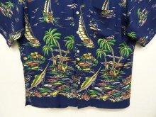 """他の写真3: 90'S RALPH LAUREN """"CALDWELL"""" レーヨン 半袖 オープンカラーシャツ ネイビー (VINTAGE)"""