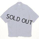 "90'S RALPH LAUREN ""CLAYTON"" レーヨン 半袖 オープンカラーシャツ ネイビー (VINTAGE)"