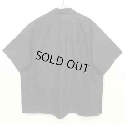 """画像2: 90'S RALPH LAUREN """"CALDWELL"""" シルク/コットン 半袖 オープンカラーシャツ ブラック (VINTAGE)"""