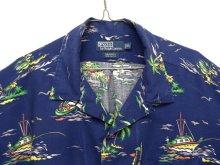 """他の写真2: 90'S RALPH LAUREN """"CALDWELL"""" レーヨン 半袖 オープンカラーシャツ ネイビー (VINTAGE)"""