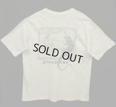 """画像1: 80'S BANANA REPUBLIC """"イグアナ&マッププリント"""" ポケット付き Tシャツ USA製 (VINTAGE)"""