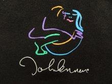 """他の写真2: 80'S JOHN LENNON """"BAG ONE ARTS"""" 両面プリント Tシャツ ブラック USA製 (VINTAGE)"""