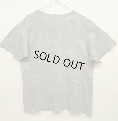 画像2: 80'S CHAMPION トリコタグ 88/12 Tシャツ 染み込みプリント 杢グレー USA製 (VINTAGE)