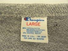 他の写真1: 80'S CHAMPION トリコタグ 88/12 Tシャツ 染み込みプリント 杢グレー USA製 (VINTAGE)